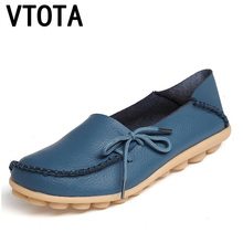 New Women Genuine Leather Flats Slip On Casual Ballet Shoes Loafers Driving Fashion Ballet Boat Shoes Plus Size 35-44 P148 все цены