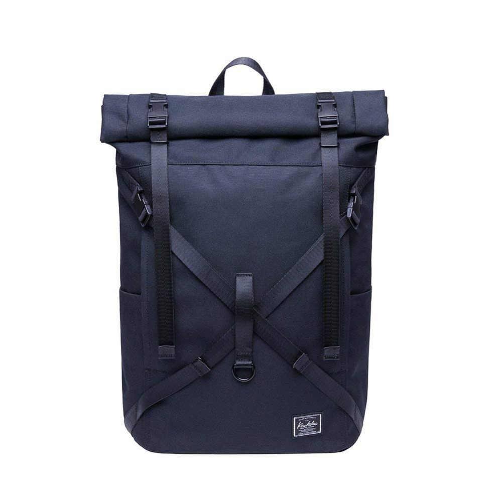 abfac4166856 KAUKKO Laptop Backpack Waterproof Roll Top Backpack Men & Women, Backpack  for Leisure / Business / Camping / School / Travel