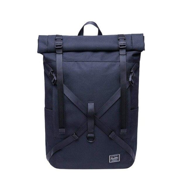 KAUKKO Laptop Backpack Waterproof Roll Top Backpack Men   Women ... 6b8bf3413bd1e