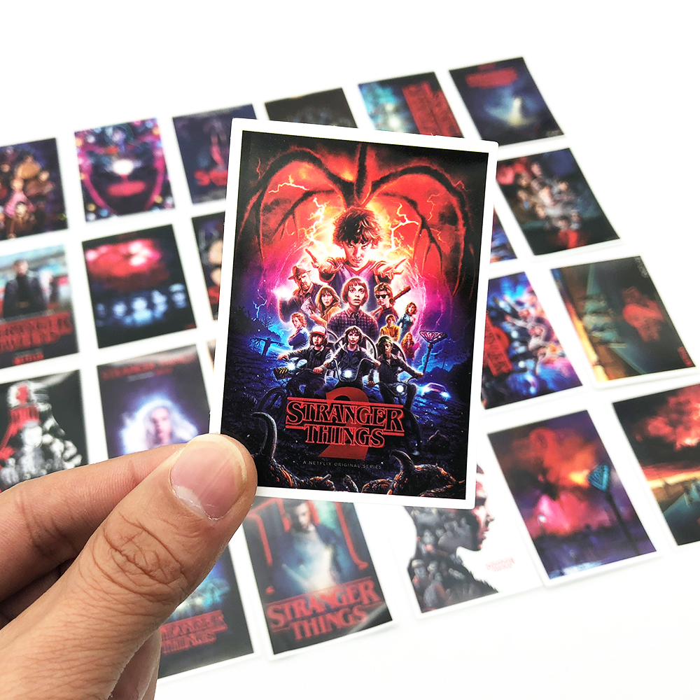 25pcs Tv Series Stranger Things Poster Sticker Cool Graffiti Stickers For Laptop Luggage Skateboard Waterproof DIY Toy Sticker