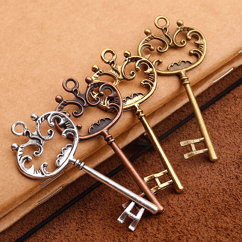 Vintage Wire Chain Jewelry Making Brass Chain Custom: Aliexpress.com : Buy Vintage Big Crown Key Pendant Charms
