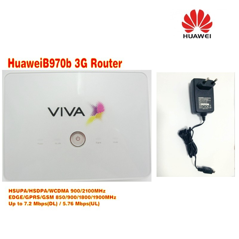 Free shipping Huawei B970B 3g portable wireless router with wifi sim slot plus dual usb cable and 3g antenna