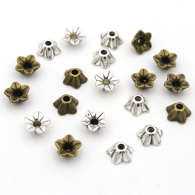 45pcs/lot Petals Horn Loose Spacer Bead Caps For Jewelry Making  Finding Handmade Diy Beads Accessories Wholesale Supply