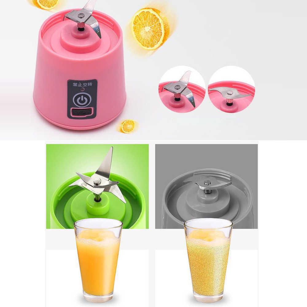 USB Recarregável Liquidificador Misturador Portátil Mini Máquina de Suco Espremedor Liquidificador Whisk Alimentos Corte do Agregado Familiar Pequeno Extrator De Suco