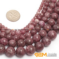 "Round Pink lepidolite jade Beads: 4mm To 12mm Natural Stone Bead DIY loose Bead For jewelry Making Strand 15"" Wholesale !"