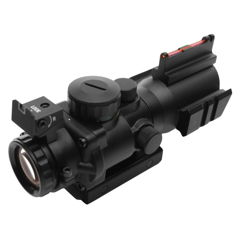 Tactical 4x32 Acog Riflescope 20mm Dovetail Reflex Optics Scope Sight For Hunting Rifle Airsoft Sniper Magnifier Air Gun t eagle 6 24x50 sffle riflescope side foucs rifle scope with spirit level tactical long range rifles airsoft air gun