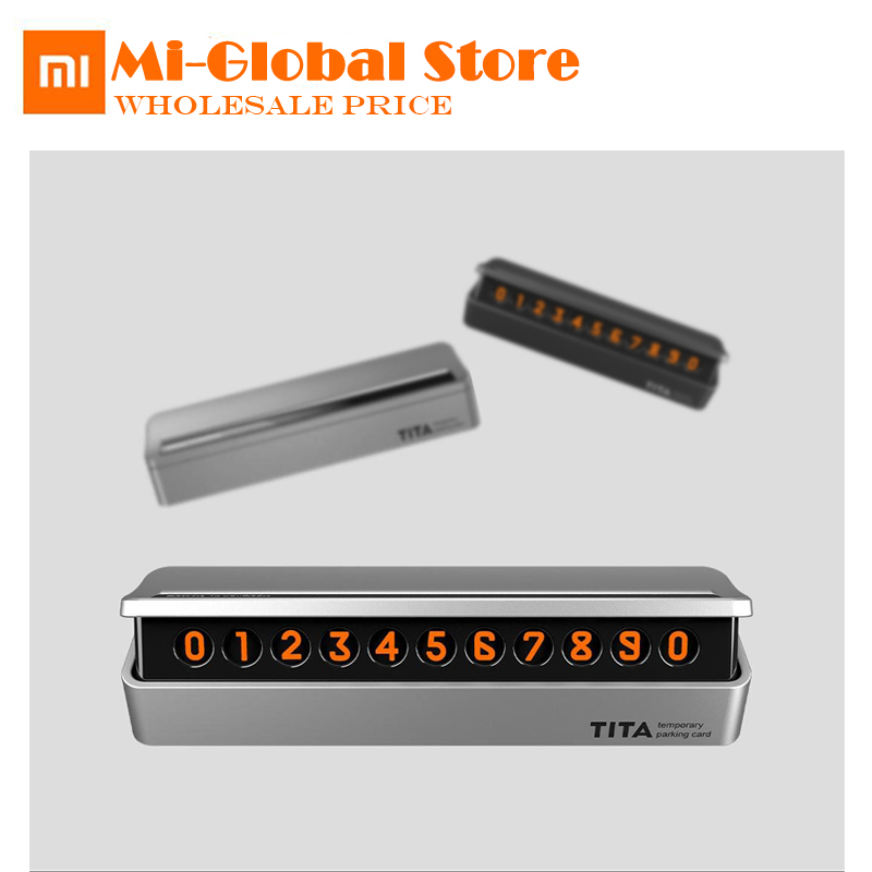 купить xiaomi TITA Temporary stop sign Car Parking Card Number can hide Support multinational phone numbers for car move по цене 666.38 рублей