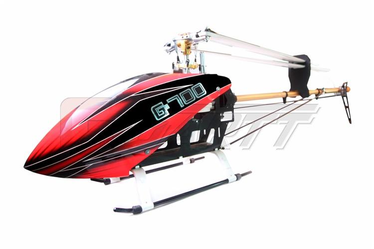 Gleagle 700 DFC TT RC Helicopter Torque Tube Version fiber glass canopy fits Align Trex цена