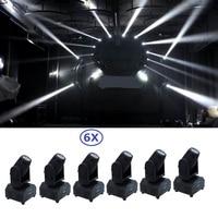 6 xLOT Envío Libre 10 W RGBW 4in1 Mini Led Viga Principal Móvil de la Luz de la colada de DMX Proyector De Sonido Del Disco de DJ Party Club Luces Estroboscópicas