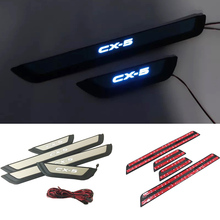 Car font b Interior b font Stainless LED Door Sill Scuff Plate Cover Pedals For Mazda