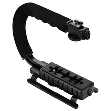 PULUZ c shaped bracket holder Professional U Shape DLSR Camera Handheld Stabilizer Steadicam+ Video Microphone Cold Shoe Tripod