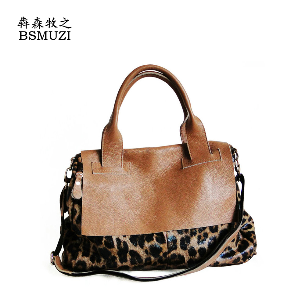 Newest Women Leopard Bag Brand Famous Genuine Leather Italian Handbags Totes Kabelky Las Bags Bolsa Feminina De Couro In Shoulder From Luggage