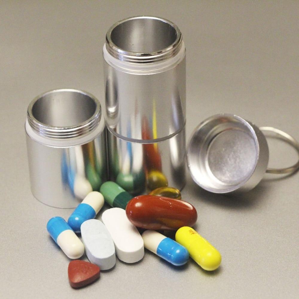 Portable mini Multi-grid kit capsule bottle seal high-capacity dispensing creative design hanging storage case box