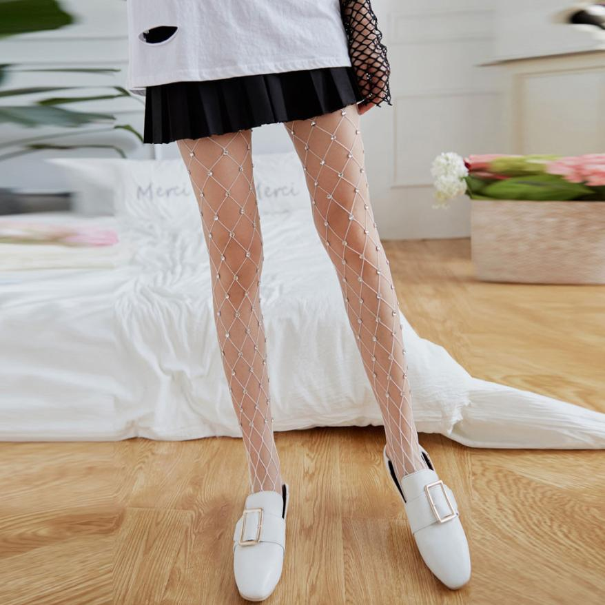 Buy JAYCOSIN Sexy Women Stocking Fishnet Silk Embroidery Flower Pantyhose Ladies Floral Mesh Tights Club Party Lady Mesh Pantyhose