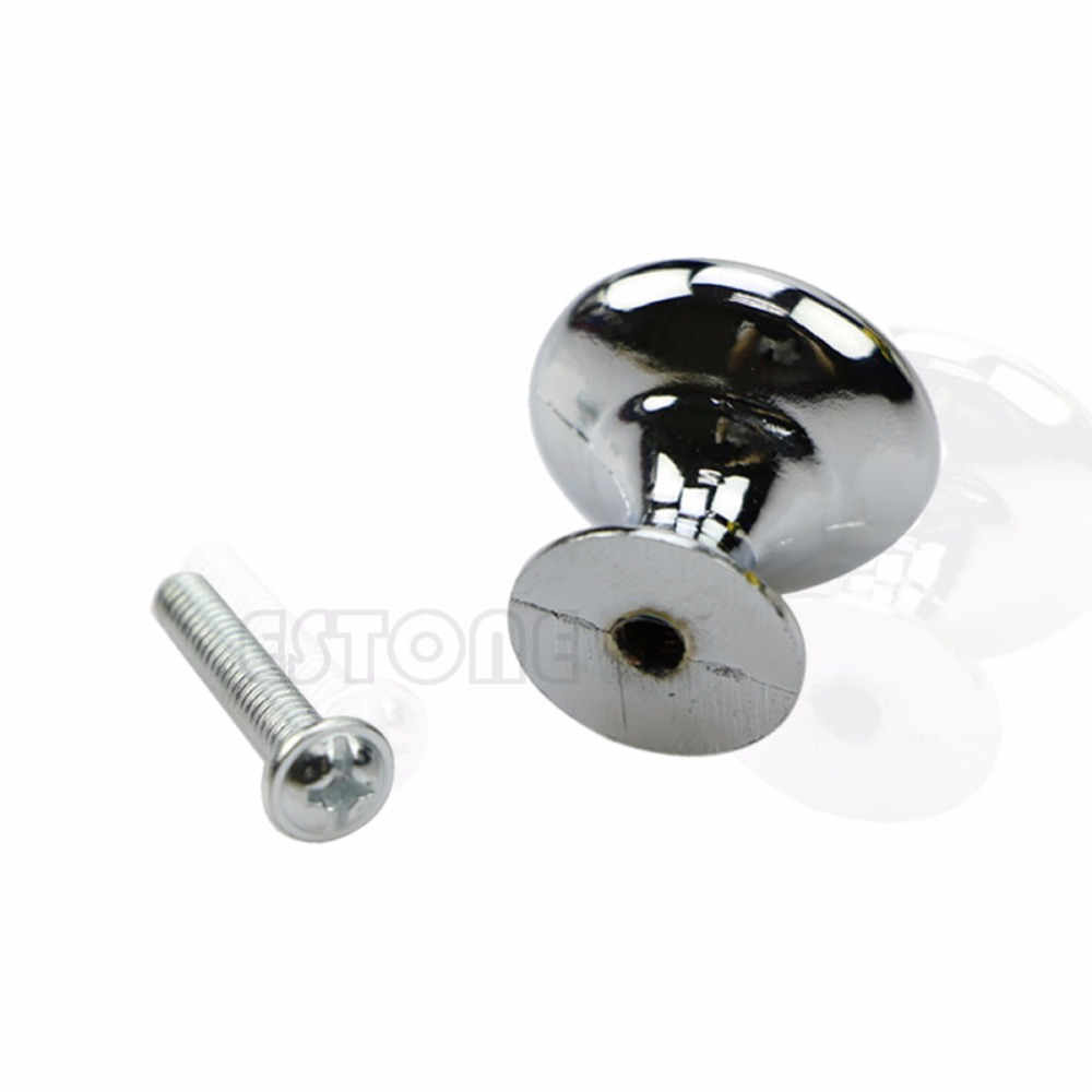 2 Size S/L Oblate Chrome Kitchen Cabinet Wardrobe Pull Cupboard Drawer Door Knob