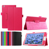 Luxury 2 Folder Stand Function Litchi Grain PU Leather Cases Cover For Lenovo Tab 3 8