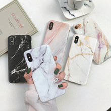 VZD Marble Case on For  iphone 7 XS MAX Soft TPU Back Cover 6 6S 8 Plus X XR Phone