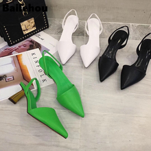 Bailehou 2019 Fashion Brand Women Sandal Ladies Elegant Pointed Toe High Heel Sl