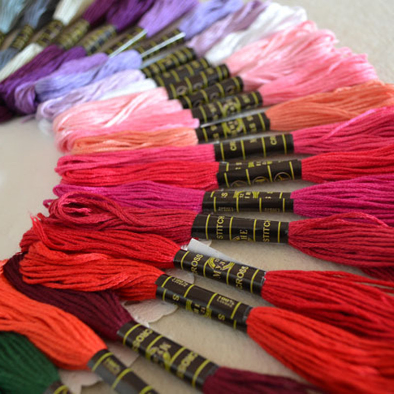 Keythemelife 100colors/lot Embroidery Thread Anchor Cross Stitch Cotton quality 8M length Floss Sewing Skeins Craft EA 4