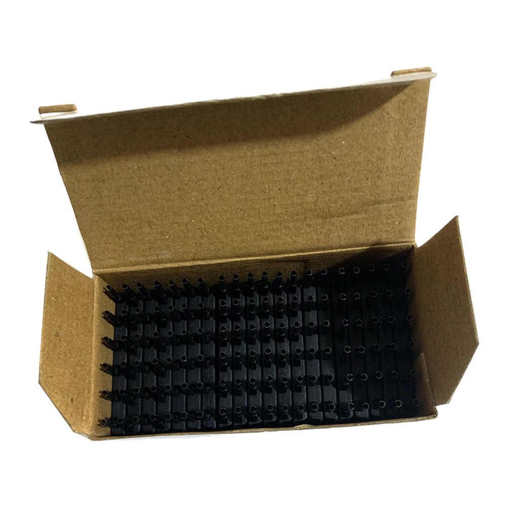 Набор из 40, черное профессиональное средство для наращивания волос с 6 рядами длиной 5 см, металлическая расческа пряжки-зажимы