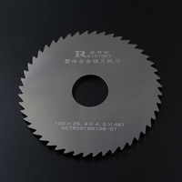 2pcs Outer Diameters 100mm Thickness 0.7mm to 2mm Slitting Saw Blade Solide Carbide Circular Milling Saw Blades CNC Lathe Metal