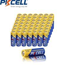 50 adet PKCELL AA pil 1.5V aa süper ağır karbon çinko piller aa R6P UM 3 pil oyuncaklar, kamera, lazer, el feneri