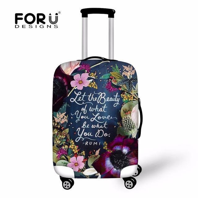 Forudesigns nova moda bagagem capa protetora para 18-30 mala, elástico capas de poeira à prova d' água estojo de viagem acessórios de cobre