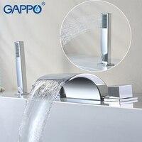 GAPPO Bathroom Shower System Bathtub Faucet Bath Shower Bathroom Showers Tap Set Waterfall Bath Faucet Mixer
