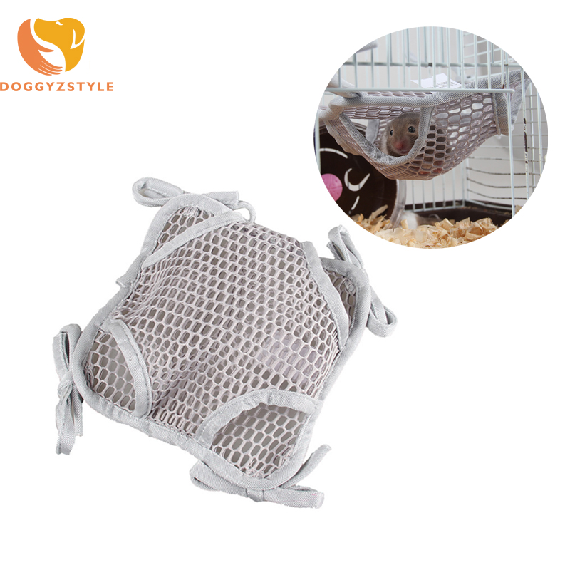 Double Layer Pet Hamster Hammock Hanging Bed Breathable mesh Chinchilla Guinea Pig Summer Sleeping Bag Small Animals Cage 1