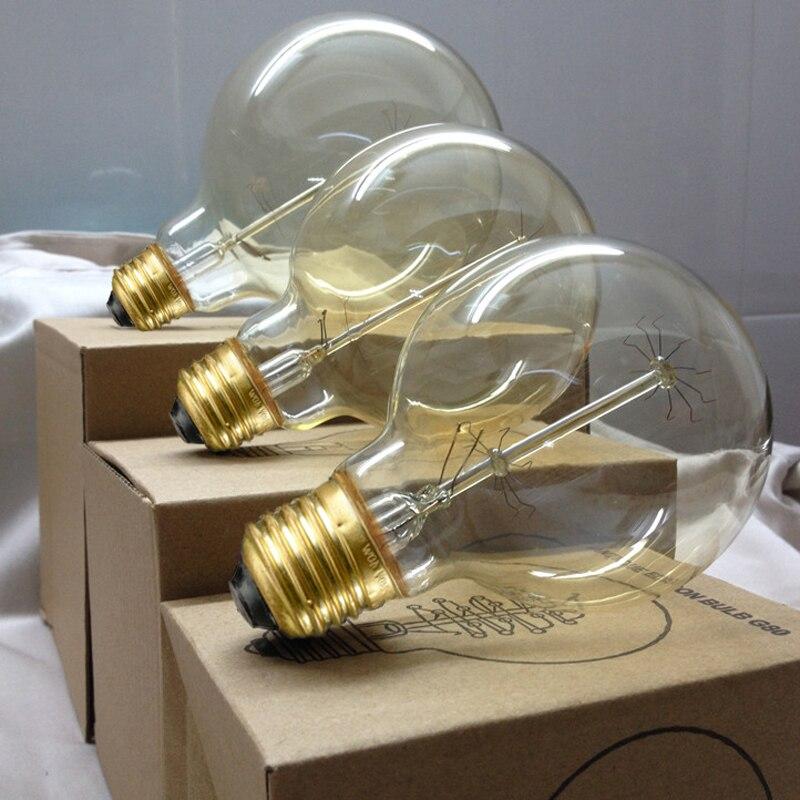Lâmpadas Incandescentes retro lâmpada g80 g95 g125 Tipo de Item : Lâmpadas Incandescentes