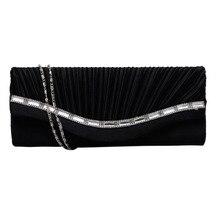 цена на Hot Sale Stylish Women Rhinestone Handbag Evening Party Clutch Bag Wedding Wallet Purse