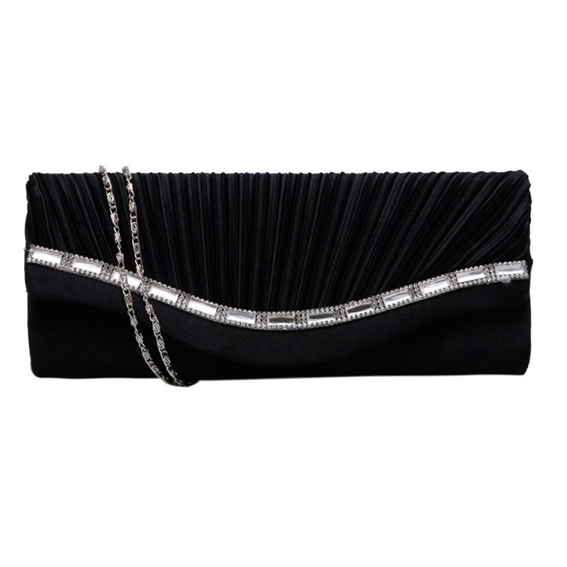 Hot Sale Stylish Women Rhinestone Handbag Evening Party Clutch Bag Wedding Wallet Purse