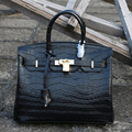 Alligator pattern handbags women genuine leather shoulder bags cow leather totes female metal buckle large capacity HB0084