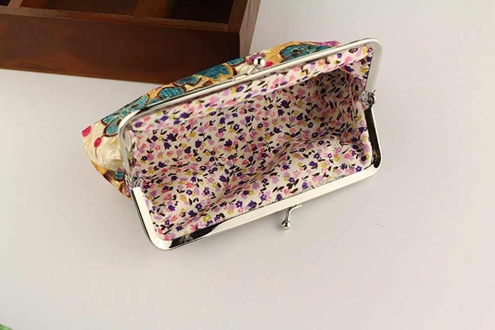 ホット販売の女性のコイン財布レトロなヴィンテージフラワー小さな財布ハスプ財布クラッチ女性財布 Carteira Feminina