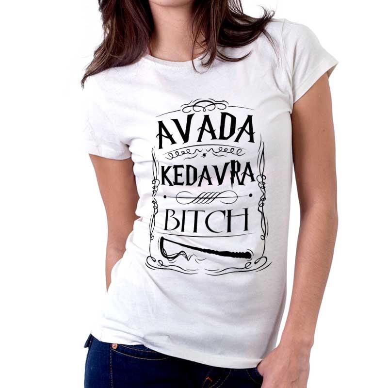 d5aaadbc2 Harry Potter hechizo Avada Kedavra Wizard mujeres camisetas impresión de la  letra Avada Kedavra camisas Avada Kedavra camisetas en Camisetas de La ropa  de ...