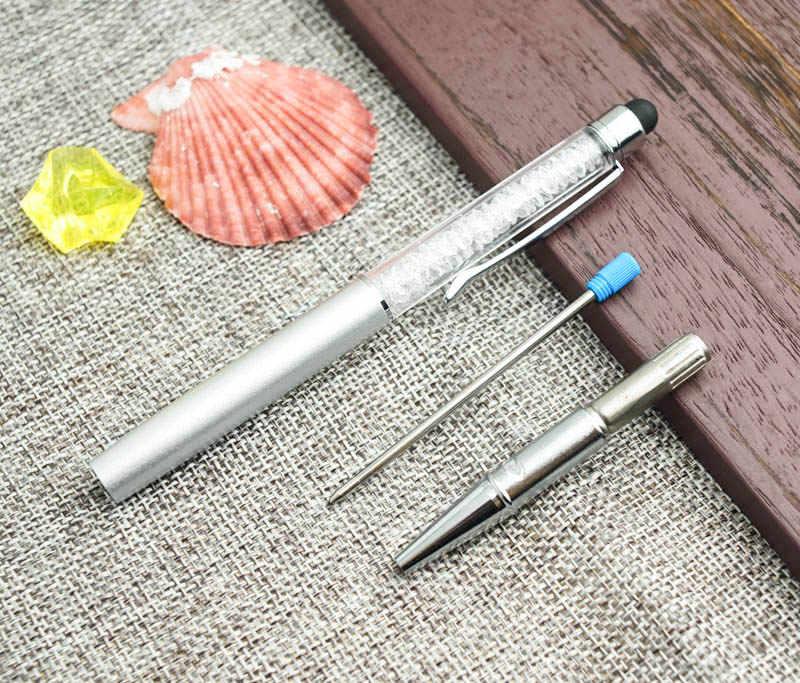 لطيف Kawaii معدن الماس كريستال قلم حبر جاف قلم باللمس لباد آيفون شعار مخصص هدية القلم اللوازم المكتبية المدرسية