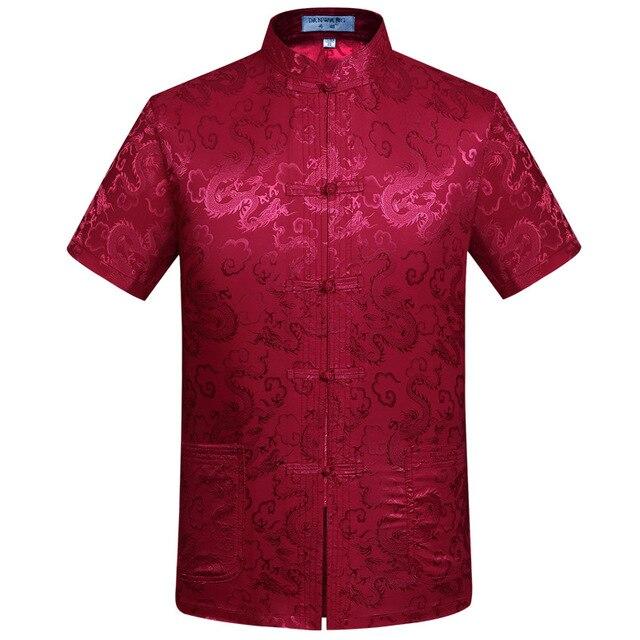 Buy dragon shirts men short sleeve summer for Mens rayon dress shirts
