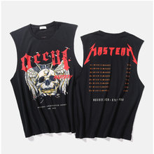 93dd2ac1fbe3d5 Metallica Vest Men s Summer Rock Hip Hop Skull Distressed Metallica Tank  Tops Justin Bieber Streetwear Fear Of God Tank Tops