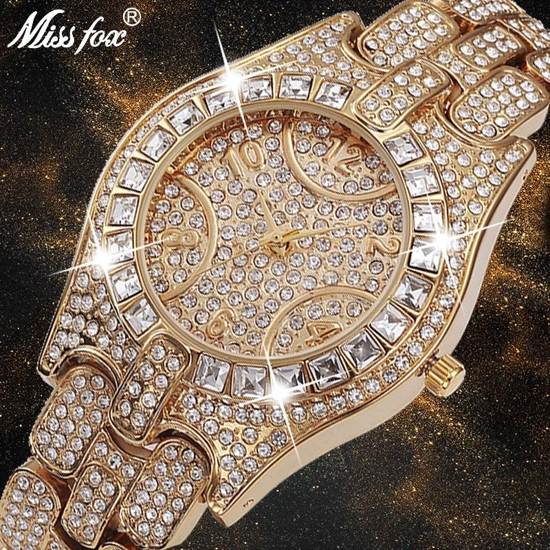 missfox relogio feminino de quartzo relogio de marca de luxo com design de moda numerico arabe