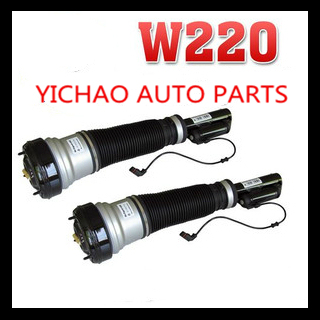 PAIR  NEW LEFT + RIGHT FRONT AIR SUSPENSION SHOCKS  for MERCEDES benz S-CLASS W220  s class pneumatic shock strut spring springs