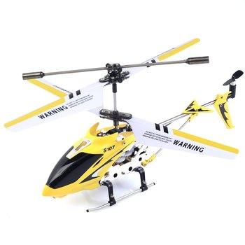 Syma S107G Helicopter 3 Channel Remote Control with Gyroscope (Yellow)