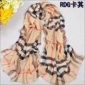 Женщины мода Новые женщин Плед шелковые шарфы польки бархат шарф шифон Богемия Шарф Теплый женский платок Рождественский подарок