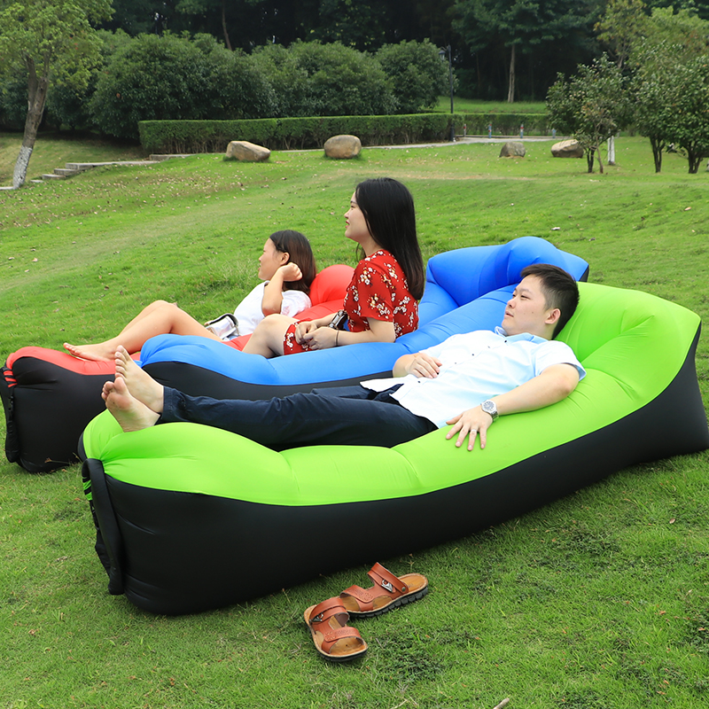High Quality Lazy Bag Outdoor Camping Inflatable Air Sofa Summer Down Sleeping Beach Bed In Bags From Sports