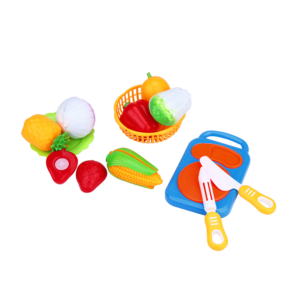 Hot 12PC Cutting Fruit Vegetable Food Pretend Play Toy For Children Kid Educational kid's Kitchen Levert Dropship O107 18