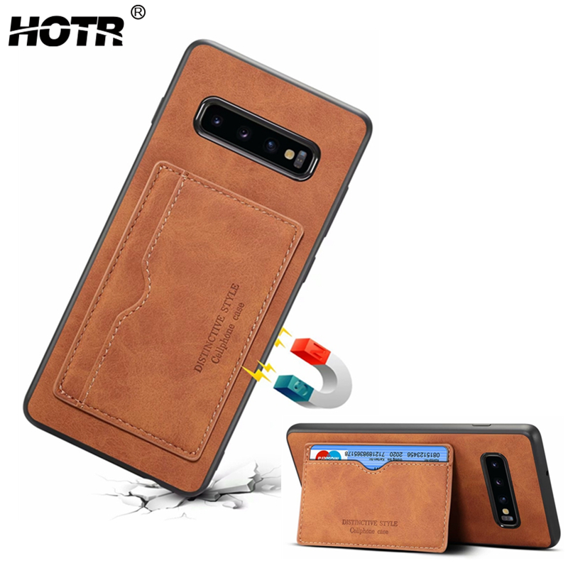 S10 Leather Case for Samsung Galaxy S10 Plus Leather Back Case for Samsung Galaxy s10e PU Leather Cover Note 9 Stand Case Bag