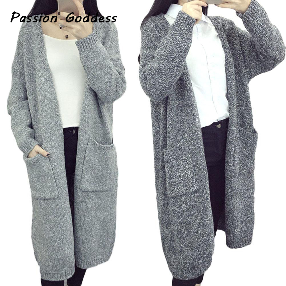 Womens Winter Long Sweater Warm Soft Knitted Cardigan Open Blazer ...