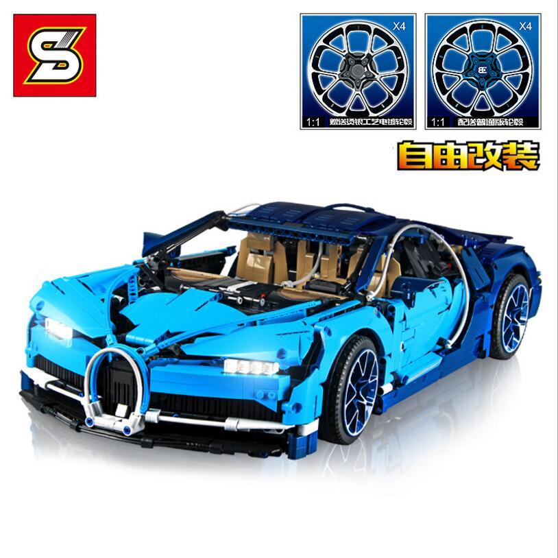 DHL бесплатно Y7950A Буле Bugatti спортивный автомобиль 6 внутреннюю коробку полноценно упаковка 3636 шт. строительные блоки кирпичи для детских игру