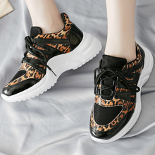 New leopard women sneakers mixed colors Fashion high quality wedges shoes for women tenis feminino moda mujer 2019 A25-18