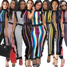 New African fashion women's dress multiple color Print elastic cloth jumpsuits size S M L XL(China)