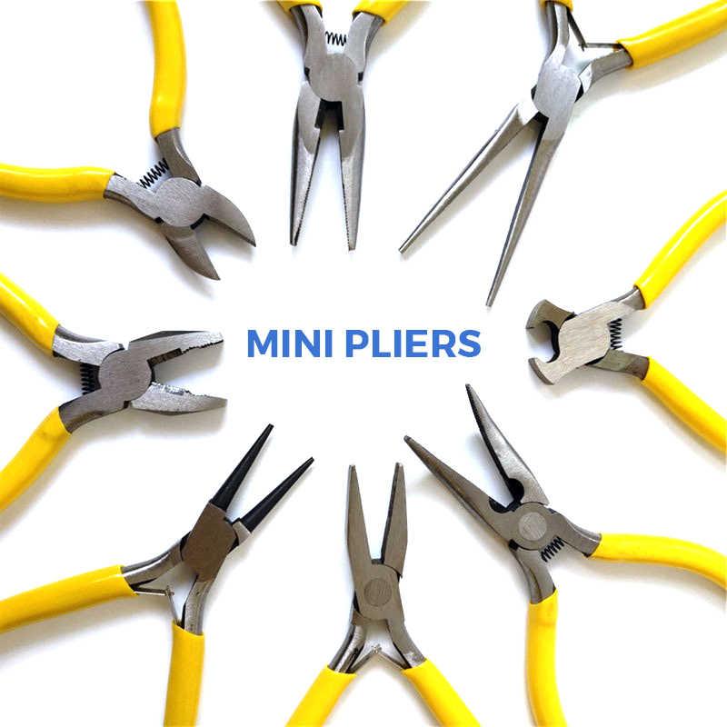 8 Typies Mini Kìm Kìm Chéo Chéo Dây Cáp Kìm Cắt Side Scissors Snips Flush Kìm Kim Mũi Kìm Đồ Trang Sức Tay Bộ Công Cụ
